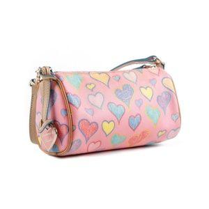 Dooney & Bourke | Pink Scribble Heart Satchel